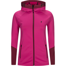 Peak Performance Rider Zip Kapuzenjacke Damen power pink